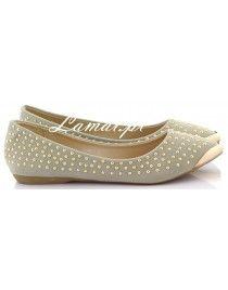 Balerinki, baletki złote dżety Gray Y302-5