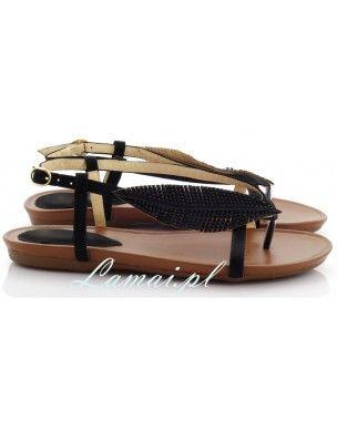 Sandały damskie, etno z piórami buty na lato, modne buty 2