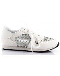 Białe obuwie sportowe z siateczką T-9