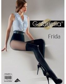 GABRIELLA Frida 332 Rajstopy imitujące zakolanówkę ze wzorem