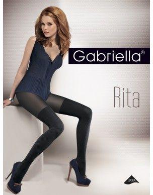 Rita GABRIELLA prążki rajstopy 2