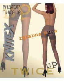 Push up Twice up Knittex 15 den Rajstopy modelujące