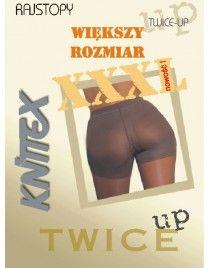 Rajstopy wyszczuplające XL i XXL Push up Twice up Knittex 20 den