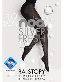 Jony srebra 40 Knittex Rajstopy z mikrofibry 40 den