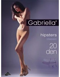 Hipsters 20 den GABRIELLA rajstopy