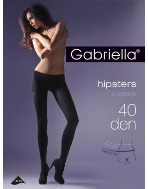 Hipsters 40 den GABRIELLA rajstopy 2