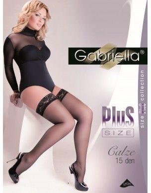 Calze Plus Size 15 den GABRIELLA pończochy 2