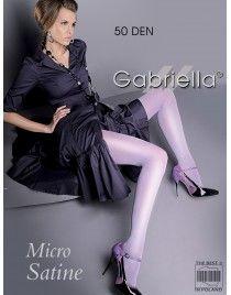 Micro satine 50 den GABRIELLA z satynowym połyskiem