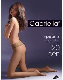 Exclusive Hipsters 20 den GABRIELLA Seksowne rajstopy