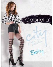Rajstopy w duże kropki grochy Betty 795 GABRIELLA