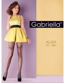 GABRIELLA Rajstopy z motywem kwiatowym Alisa 651