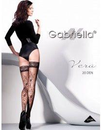 Pończochy Vera 207 Gabriella samonośne wzorzyste