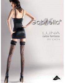 Pończochy ze szwem Luna 209 Gabriella samonośne