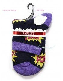 Skarpetki z napisem POP! Bawełniane I29 Marilyn