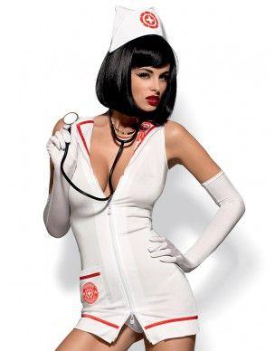 Strój pielęgniarki Emergency dress + stetoskop Obsessive 2