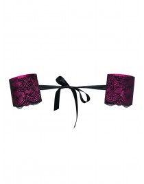 Różowe Kajdanki koronkowe Roseberry Obsessive