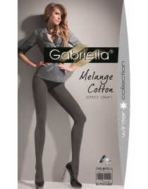Melange Cotton 250 den GABRIELLA rajstopy