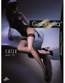 Calze Kabarette 153 pończochy duże oczko kabaretki Gabriella