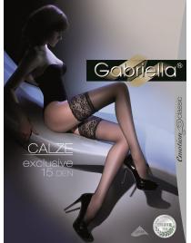 Calze Exclusive 15 den pończochy samonośne Gabriella