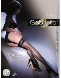 Calze Linette pończochy samonośne ze szwem Gabriella