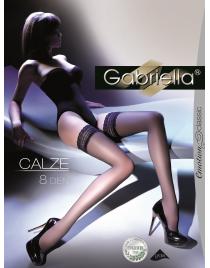 Calze 8 den cienkie pończochy samonośne Gabriella