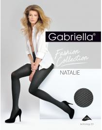 Natalie 373 GABRIELLA Rajstopy wzorzyste szare