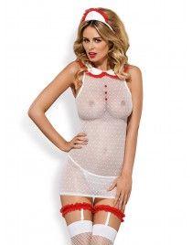 Caregirl kostium 5-częściowy Strój niegrzecznej pielęgniarki Obsessive