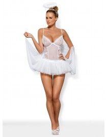 Swangel biały aniołek kostium 6-częściowy Obsessive