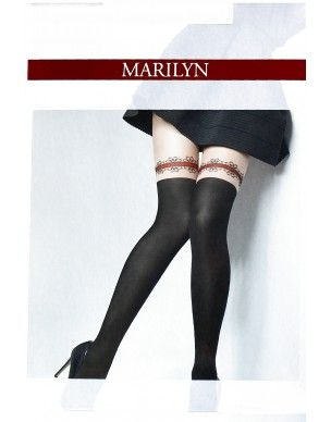 Zazu Red Lace MARILYN rajstopy 2