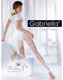 Charme 04 Gabriella fantazyjny szew - rajstopy