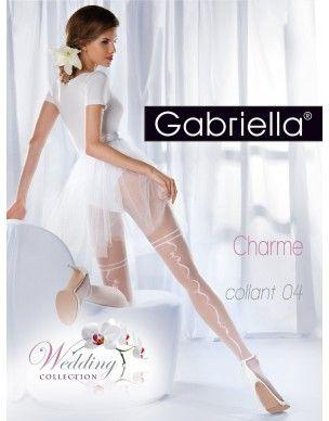 Charme 04 Gabriella fantazyjny szew - rajstopy 2