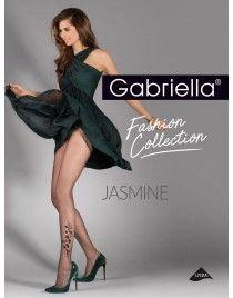 Jasmine GABRIELLA kwiatki po boku rajstopy