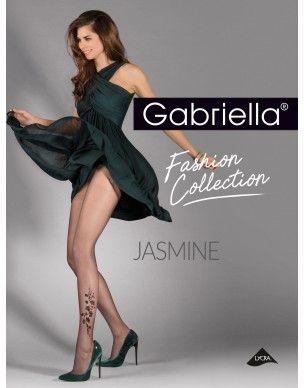 Jasmine GABRIELLA kwiatki po boku rajstopy 2