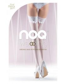 First Dance - białe pończochy z kokardkami Knittex - Noa
