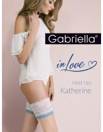 Katherine 473 PLUS SIZE 5/6 Gabriella pończochy z niebieskim akcentem
