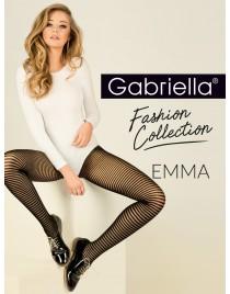 Emma 418 GABRIELLA rajstopy w czarne paski