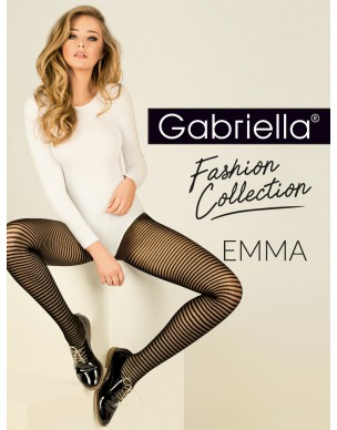 Emma 418 GABRIELLA rajstopy w czarne paski 2