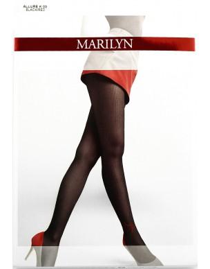 Allure K03 MARILYN rajstopy w paski z czerwonym sercem 2