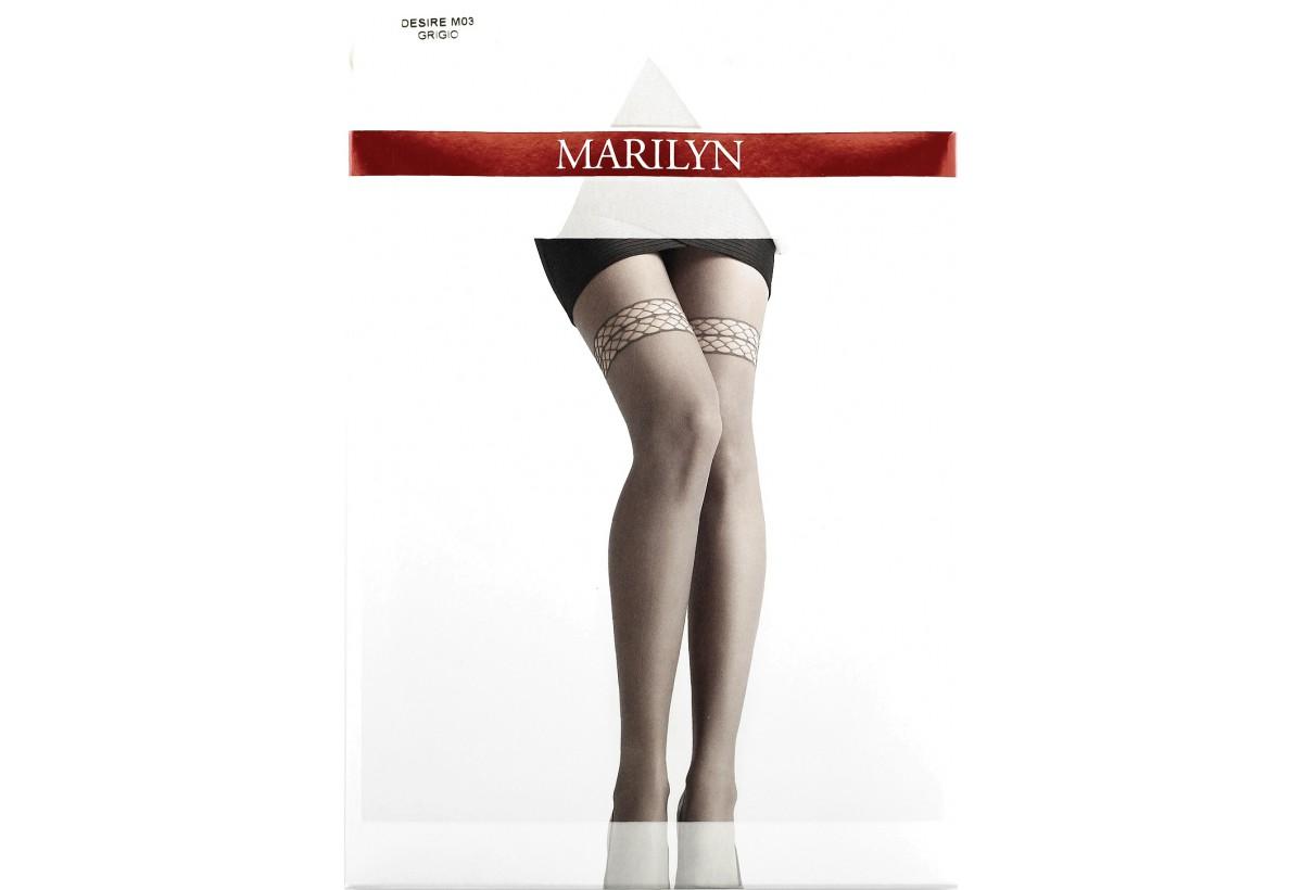 5cbfb04338c8c9 Desire M03 MARILYN rajstopy szare z imitacją koronki pończoch 3 ...