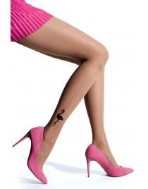 Flamingo KNITTEX NOA rajstopy z flamingami jak tatuaż