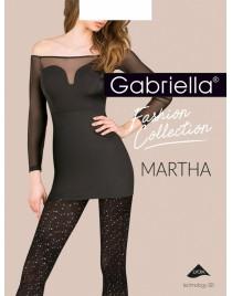 Martha 420 GABRIELLA rajstopy ażurowe w kropki