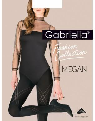 Megan XL 423 GABRIELLA czarne rajstopy ze wzorem 2