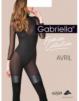 Avril PLUS SIZE XL 422 GABRIELLA rajstopy z błyszczącym pasem 2