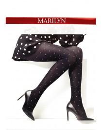 Emmy N21 MARILYN rajstopy w błyszczące groszki