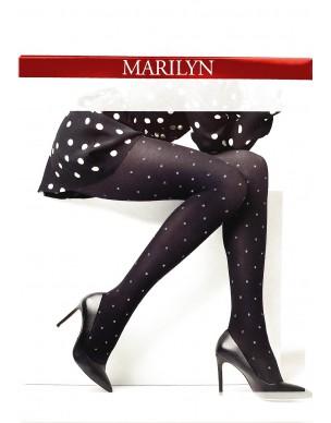 Emmy N21 MARILYN rajstopy w błyszczące groszki 2
