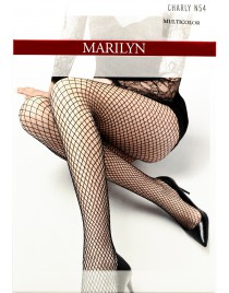 Charly Lurex N54 MARILYN rajstopy kabaretki z kolorową, błyszczącą nitką