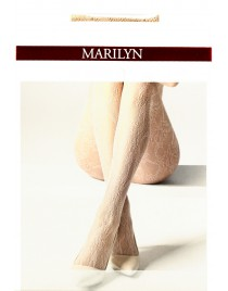 Charly P04 MARILYN cienkie rajstopy ażurowe - beż