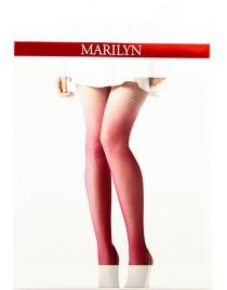 Charly M01 MARILYN rajstopy kabaretki ombre - różowe