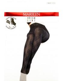 Emmy R18 MARILYN rajstopy w złotą kratkę
