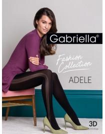 Adele 438 GABRIELLA rajstopy czarne z imitacją szwu na boku